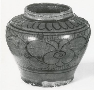 T'zu-chou Ware Jar, 13-14th century. Earthenware, 3 5/8 x 4 in. (9.2 x 10.2 cm). Brooklyn Museum, Gift of Dr. Ralph C. Marcove, 84.198.20. Creative Commons-BY
