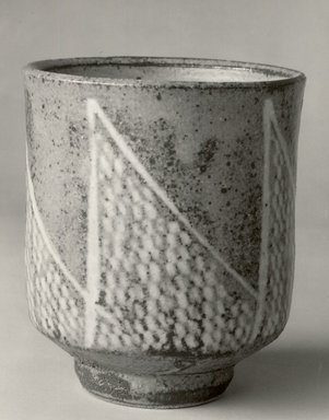 Shimaoka Tatsuzo (Japanese, born 1919). Slip-Inland Tea Cup, ca. 1978. Buff Stoneware, 3 7/8 x 3 1/4 in. (9.8 x 8.3 cm). Brooklyn Museum, Gift of John M. Lyden, 84.70.2. Creative Commons-BY