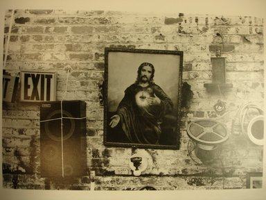 Len Bernstein (American, born 1950). Objects on Wall, 1984. Gelatin silver photograph, image: 7 1/2 x 11 in. (19.1 x 27.9 cm). Brooklyn Museum, Gift of the artist, 85.124.1. © Len Bernstein