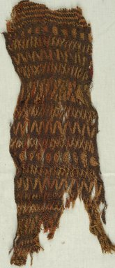 Coptic. Textile, 9th century C.E. Wool, 5 9/16 x 14 15/16 in. (14.2 x 38 cm). Brooklyn Museum, Gift of Philip Gould, 85.165.2. Creative Commons-BY