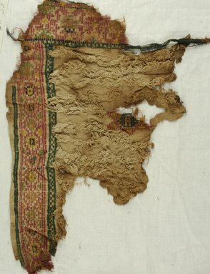 Coptic. Textile, 8th century C.E. Wool, 11 1/2 x 18 in. (29.2 x 45.7 cm). Brooklyn Museum, Gift of Philip Gould, 85.165.4. Creative Commons-BY