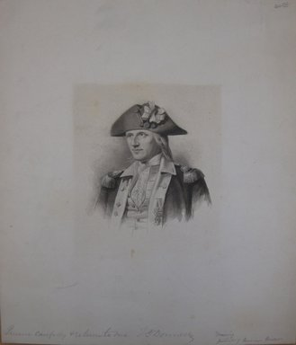 Portrait of Marinus Willett, n.d. Grisaille wash, sheet: 11 1/16 x 9 5/8 in. (28.1 x 24.4 cm). Brooklyn Museum, Gift of Sidney M. Katz, 85.243.12