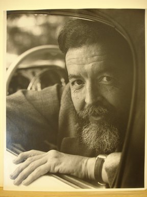 Philippe Halsman (American, born Latvia, 1906-1979). Randall Jarrell  (Looking Down), 1958. Gelatin silver photograph Brooklyn Museum, Gift of Dr. and Mrs. Arthur E. Kahn, 85.294.12. © Halsman Archive