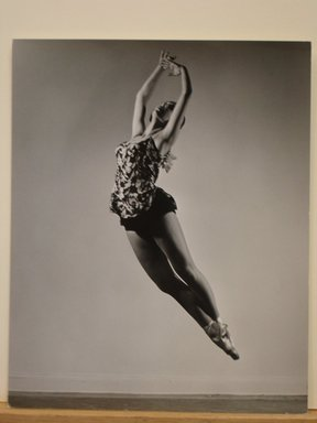 Philippe Halsman (American, born Latvia, 1906-1979). [Untitled]  (Ballet Dancer in Toe Shoes in Air), 1944. Gelatin silver photograph Brooklyn Museum, Gift of Dr. and Mrs. Arthur E. Kahn, 85.294.22. © Halsman Archive