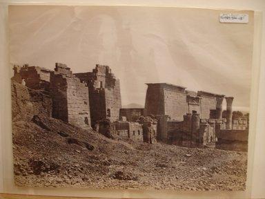 Pascal Sébah (Turkish, 1823-1886). Temple at Medinet Habu, late 19th century. Albumen silver photograph Brooklyn Museum, Gift of Matthew Dontzin, 85.305.18