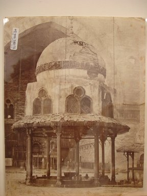 Pascal Sébah (Turkish, 1823-1886). Mosque of Sultan Hassan, late 19th century. Albumen silver photograph Brooklyn Museum, Gift of Matthew Dontzin, 85.305.20
