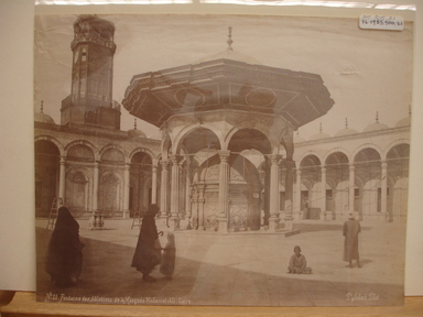 Pascal Sébah (Turkish, 1823-1886). Mohammed Ali Mosque in Cairo. Albumen silver photograph Brooklyn Museum, Gift of Matthew Dontzin, 85.305.21