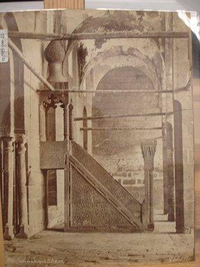 Pascal Sébah (Turkish, 1823-1886). Mosque of Sultan Barquq. Albumen silver photograph Brooklyn Museum, Gift of Matthew Dontzin, 85.305.22