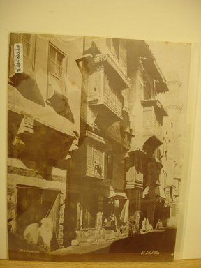 Pascal Sébah (Turkish, 1823-1886). Street Scene in Cairo. Albumen silver photograph Brooklyn Museum, Gift of Matthew Dontzin, 85.305.24