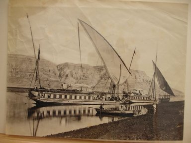 Riverboats on the Nile, late 19th century. Albumen silver photograph Brooklyn Museum, Gift of Matthew Dontzin, 85.305.28