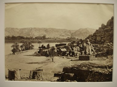 Frank Mason Good (English, 1839-1911). View Across Nile, mid to late 19th century. Albumen silver photograph, image/sheet: 7 3/4 x 10 1/4 in. (19.7 x 26 cm). Brooklyn Museum, Gift of Matthew Dontzin, 85.305.29