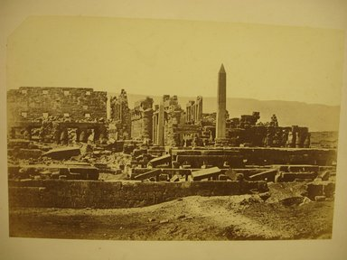 W. Hammerschmidt. Temple of Karnak. Albumen silver photograph Brooklyn Museum, Gift of Matthew Dontzin, 85.305.39