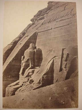 W. Hammerschmidt. South Temple of Ramsses II at Abu Simbel, mid-19th century. Albumen silver photograph, image/sheet: 7 3/4 x 10 1/4 in. (19.7 x 26 cm). Brooklyn Museum, Gift of Matthew Dontzin, 85.305.42