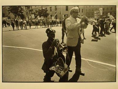 Robert Sefcik (American, born 1948). [Untitled] (Pro-Vietnam War Demonstration Parade in Washington, D.C.), 1970. Gelatin silver photograph, Sheet: 11 x 14 in. (27.9 x 35.6 cm). Brooklyn Museum, Gift of Cynthia K. Yanowitz, 85.94.3. © Robert Sefcik
