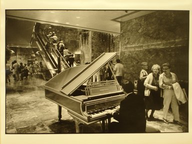 Robert Sefcik (American, born 1948). New York City (Atrium of Trump Tower, 5th Avenue), 1984. Gelatin silver photograph, Sheet: 11 x 14 in. (27.9 x 35.6 cm). Brooklyn Museum, Gift of Cynthia K. Yanowitz, 85.94.6. © Robert Sefcik