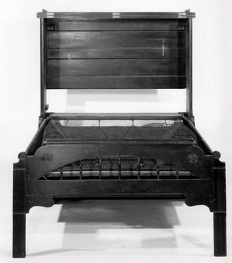 Smith & Co.. Convertible Bed in Form of Upright Piano, ca. 1885. Ebonized woods, metal, 55 1/2 x 54 3/4 x 27 in. (141 x 139.1 x 68.6 cm). Brooklyn Museum, Gift of Elinor Merrell, 86.176. Creative Commons-BY