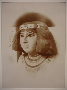 Antonio Beato (Italian and British, after 1832-1906). Sculpture of Nefertiti, ca. 1870s. Albumen silver photograph, image/sheet: 9 1/2 x 7 in. (24.1 x 17.8 cm). Brooklyn Museum, Gift of Isaac Lagnado, 86.212.8