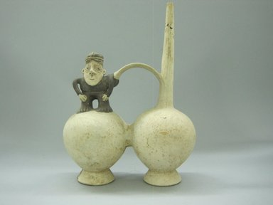 Brooklyn Museum: Whistling Vessel with Figure of a Man