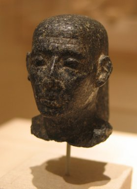 Head of a Man, ca. 310 or 305-30 B.C.E. Granite, 2 11/16 x 1 7/8 x 2 13/16 in. (6.8 x 4.7 x 7.1 cm). Brooklyn Museum, Gift of the Ernest Erickson Foundation, Inc., 86.226.13. Creative Commons-BY