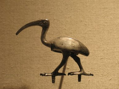 Ibis, 305-30 B.C. Silver, Height: 2 3/4in. (7cm). Brooklyn Museum, Gift of the Ernest Erickson Foundation, Inc., 86.226.19. Creative Commons-BY