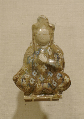Tile in the Shape of a Seated Figure