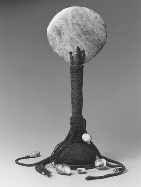 Kanak. Ceremonial Ax (Gi Okono), 20th century. Greenstone, wood, coir, coconut shell, shells, 20 1/2 x 8 1/4 x 5 1/4 in. (52.1 x 21 x 13.3 cm). Brooklyn Museum, Gift of Marcia and John Friede and Mrs. Melville W. Hall, 86.229.2. Creative Commons-BY
