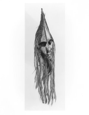 Mask (Rom), 19th century. Palm spathe, bamboo, coconut fiber, hemp, pigment, 37 3/4 x 8 x 9 in. (95.9 x 20.3 x 22.9 cm). Brooklyn Museum, Gift of Evelyn A. J. Hall and John A. Friede, 86.229.5. Creative Commons-BY