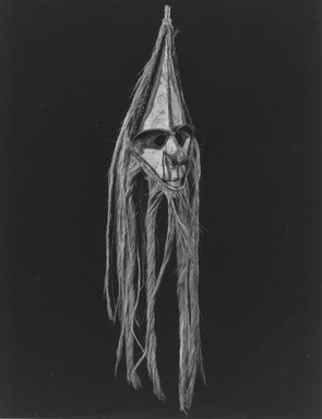 Ambrym. Mask (Rom), 19th century. Palm spathe, bamboo, coconut fiber, hemp, pigment, 37 3/4 x 8 x 9 in. (95.9 x 20.3 x 22.9 cm). Brooklyn Museum, Gift of Marcia and John Friede and Mrs Melville W. Hall, 86.229.5. Creative Commons-BY