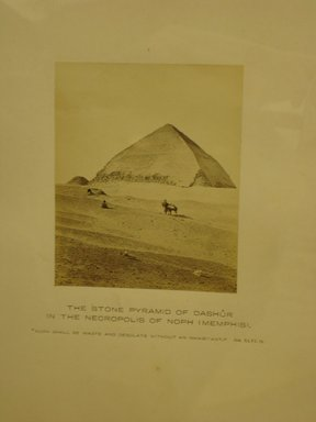 Frank Mason Good (English, active 1860-1880). The Stone Pyramid of Dashur in the Necropolis of Noph, 19th century. Albumen silver photograph, (10.0 x 8.3 cm). Brooklyn Museum, Gift of Alan Schlussel, 86.250.43