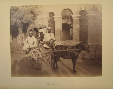 Possibly Samuel Bourne (British, 1834-1912). Print from Album of Photographs: Architecture in India, 1862-1872. Albumen silver photograph, 7 5/16 x 9 5/16 in. (18.6 x 23.7 cm). Brooklyn Museum, Gift of Matthew Dontzin, 86.256.10