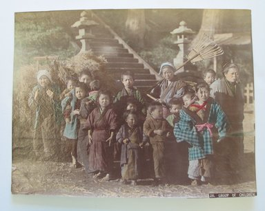 Group of Children, late 19th-early 20th century. Tinted albumen silver photographs, 10 3/16 x 7 7/8 in. (25.9 x 20 cm). Brooklyn Museum, Gift of Matthew Dontzin, 86.256.25