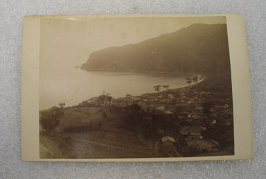 View of Japan, late 19th-early 20th century. Albumen silver photograph mounted on cardboard, with mounting: 4 3/16 x 6 7/16 in. (10.6 x 16.3 cm). Brooklyn Museum, Gift of Matthew Dontzin, 86.256.39