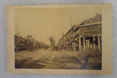 View of Japan, late 19th-early 20th century. Albumen silver photograph mounted on cardboard, with mounting: 4 5/16 x 6 3/8 in. (10.9 x 16.2 cm). Brooklyn Museum, Gift of Matthew Dontzin, 86.256.50