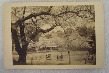 View of Japan, late 19th-early 20th century. Albumen silver photograph mounted on cardboard, with mounting: 4 5/16 x 6 7/16 in. (10.9 x 16.3 cm). Brooklyn Museum, Gift of Matthew Dontzin, 86.256.52
