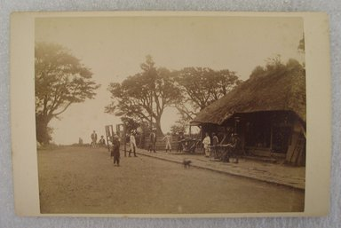 View of Japan, late 19th-early 20th century. Albumen silver photograph mounted on cardboard, with mounting: 4 3/16 x 6 3/8 in. (10.6 x 16.2 cm). Brooklyn Museum, Gift of Matthew Dontzin, 86.256.55