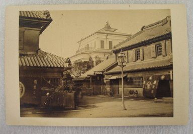 View of Japan, late 19th-early 20th century. Albumen silver photograph mounted on cardboard, with mounting: 4 1/4 x 6 7/16 in. (10.8 x 16.3 cm). Brooklyn Museum, Gift of Matthew Dontzin, 86.256.60