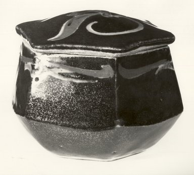 Kawai Kanjiro (Japanese, 1890-1966). Covered Box, ca. 1950. Stoneware with glaze, 3 3/4 x 5 in. (9.5 x 12.7 cm). Brooklyn Museum, Gift of Dr. and Mrs. John P. Lyden, 86.271.5. Creative Commons-BY