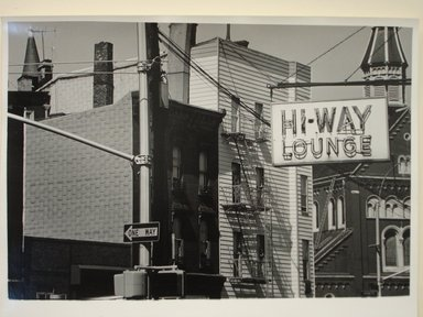 Richard Schiffman (American, born 1952). Untitled (Highway Lounge), 1986. Gelatin silver photograph, Image: 9 1/4 x 13 3/4 in. (23.5 x 35 cm). Brooklyn Museum, Gift of the artist, 86.54.3. © Richard Schiffman