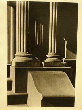 Richard Schiffman (American, born 1952). Untitled (Two Columns), 1986. Gelatin silver photograph, Image: 12 3/4 x 8 7/16 in. (32.4 x 21.5 cm). Brooklyn Museum, Gift of the artist, 86.54.5. © Richard Schiffman