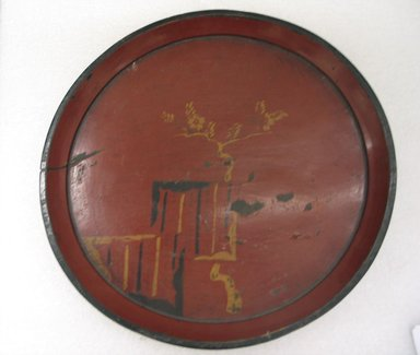 Folk - Lacquer Tray, 18th century. Turned wood coated with lacquer, 1 3/8 x 15 in. (3.5 x 38.1 cm). Brooklyn Museum, Gift of Dr. Hugo Munsterberg, 87.129.3. Creative Commons-BY