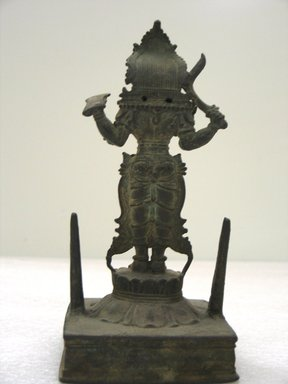 Standing Kali, 17th century. Bronze, 8 7/8 x 3 1/2 in. (22.5 x 8.9 cm). Brooklyn Museum, Gift of Dr. Samuel Eilenberg in honor of Dr. Bertram H. Schaffner, 87.185. Creative Commons-BY