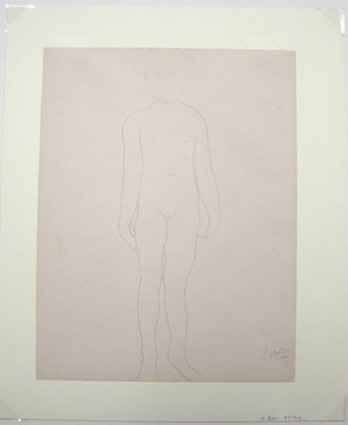 Auguste Rodin (French, 1840-1917). Jean Simpson, Standing (Jean Simpson, debout), 1903. Pencil on wove paper, 12 13/16 x 9 13/16 in. (32.5 x 24.9 cm). Brooklyn Museum, Gift of the Iris and B. Gerald Cantor Foundation, 87.94.2