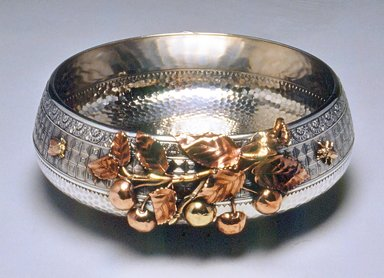 Gorham Manufacturing Company (founded 1865). Bowl, ca. 1881. Silver, copper, brass, 3 x 8 1/2 x 8 1/2 in. (7.6 x 21.6 x 21.6 cm). Brooklyn Museum, Gift of Mr. and Mrs. George J. Hecht, by exchange, 88.117. Creative Commons-BY