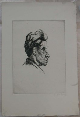 Maurice van Felix (American, born Poland, 1889-1969). Untitled, A Man, n.d. Etching, Sheet: 11 7/16 x 7 5/8 in. (29 x 19.3 cm). Brooklyn Museum, Brooklyn Museum Collection, X1042.11