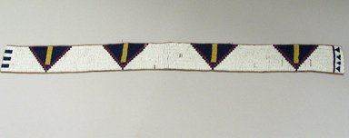 Cheyenne (Native American). Belt, 20th century. Hide, beads, 30 5/16 x 2 3/8 in.  (77.0 x 6.0 cm). Brooklyn Museum, Brooklyn Museum Collection, X105. Creative Commons-BY