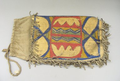 Possibly Sioux (Native American). Hide Container, late 19th -early 20th century. Rawhide, paint, fabric, 11 1/4 x 21 1/2 in. (28.6 x 54.6 cm). Brooklyn Museum, Brooklyn Museum Collection, X1115.1. Creative Commons-BY