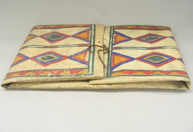 Sioux (Native American). Parfleche. Rawhide, paint, folded: 15 1/4 x 29 x 2 1/2 in. (38.7 x 73.7 x 6.4 cm). Brooklyn Museum, Brooklyn Museum Collection, X1115.2. Creative Commons-BY