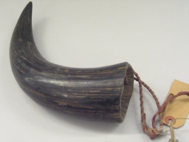 Plains (Native American). Horn. Horn, 3 x 9 in. (7.6 x 22.9 cm). Brooklyn Museum, Brooklyn Museum Collection, X1126.19. Creative Commons-BY