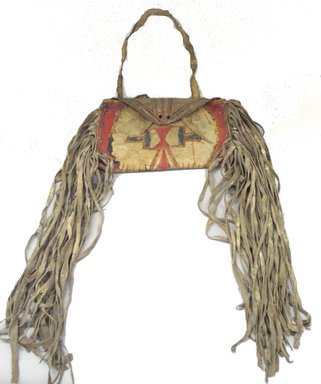 Blackfoot (Native American). Warrior's Case, Late 19th century. Hide, paint, pencil, bag: 9 1/2 x 13 in. (24.1 x 33 cm). Brooklyn Museum, Brooklyn Museum Collection, X1126.40. Creative Commons-BY