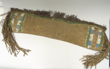 Plains (Native American). Saddle Bag, Late 19th century. Hide, beads, sinew, cotton thread, 13 x 82 1/2 in. (33 x 209.6 cm). Brooklyn Museum, Brooklyn Museum Collection, X1126.44. Creative Commons-BY